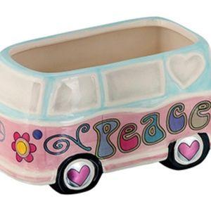 COPY - Hippie Peace Van / Bus Planter Pot Ceramic…